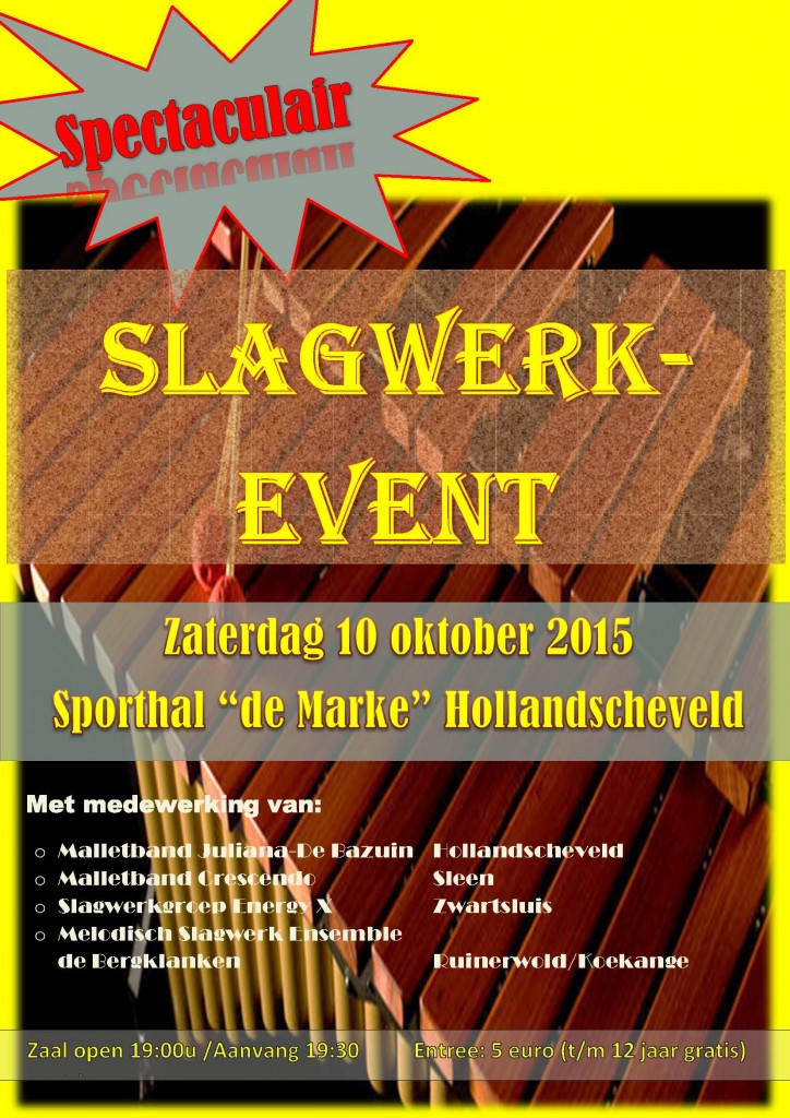 Flyer Slagwerkevent 2015